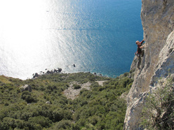Capo d'Uomo all'Argentario in Tuscany, one of the most beautiful seaside crags in Italy.