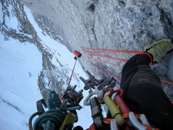 On 16/03/2012 Daniele Natali and Tito Arosio carried out the first winter ascent of Via Paco.