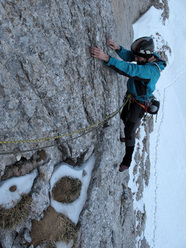 On 16/03/2012 Maurizio Panseri and Fulvio Zanetti made the first winter ascent of Via Bosio.