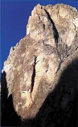 La Via dei Bellunesi allo Spiz di Lagunaz (Pale di San Lucano, Dolomiti) aperta nel luglio del '79 da Franco Miotto, Riccardo Bee e Stefano Gava.