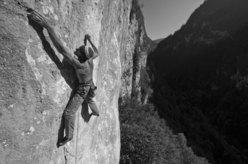 Manolo climbing Roby Present 8c+/9a, Val Noana, Pale di San Martino, Dolomites