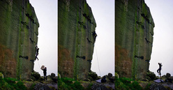 Michele Caminati su, e giù, dal The New Statesman E8 7a Ilkley Quarry in Inghilterra.