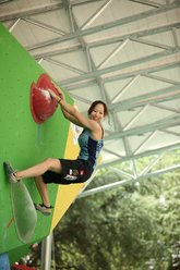 Akiyo Noguchi at the Climbing World Championship 2011 at Arco, Italy