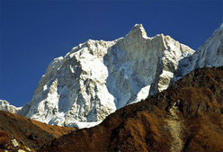 The impressive north face of Jannu (7710m) Nepal