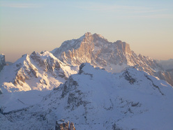 Monte Civetta in evening light.