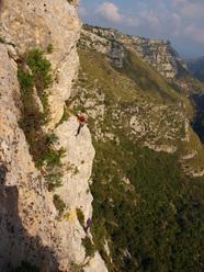 Rosa dei venti (6c+, 210m), Cava Grande del Cassibile, Sicily