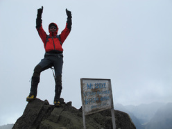 Ruwenzori: on the summit of Mount Speke 4890m