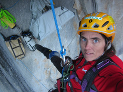 Silvia Vidal establishes Espiadimonis up Serrania Avalancha in Patagonia