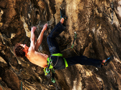 Adam Ondra onsighting Bella Regis 8c+, Bus de Vela, Italy on 7/04/2012