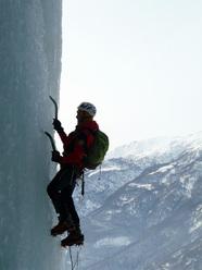 Fulvio Conta climbing pitch 1 of Casa di Bacco