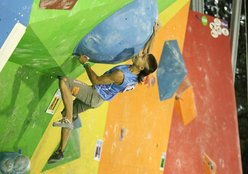 Rustam Gelmanov at the Climbing World Championship 2011 at Arco, Italy