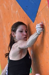 Mina Markovic at the Climbing World Championship 2011 at Arco, Italy.