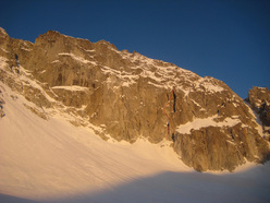Depravation, established on 31/03/2012 by Francesco Salvaterra and Patrick Ghezzi up the East Face of Presanella.