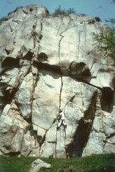 1981, Mario Ogliengo si allena su Sitting Bull