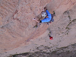 Arnaud Petit in the 10th 7c+ pitch