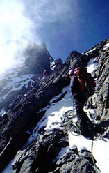 Mount Kenya, ascending the North Face