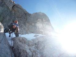 In azione durante la prima invernale di Kein Rest Von Sehnsucht, Punta Tissi, Civetta