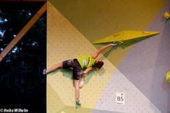 The third stage of the Bouldering World Cup 2012 in Vienna, Austria: Juliane Wurm