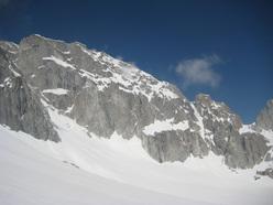 La parete est della Presanella.