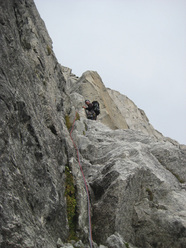 Presanella East Face: G. Paoli on via delle Guide