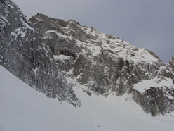 Presanella East Face in winter garb