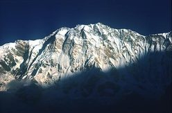 The immense south face of Annapurna, at 8091m, the 10th highest mountain in the world.