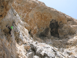 Climbing at the sector  Inspiration at Telendos, Kalymnos