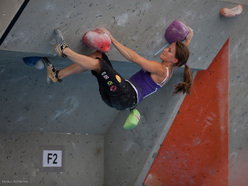 The fourth stage of the Bouldering World Cup 2012 in Innsbruck, Austria: Anna Stöhr