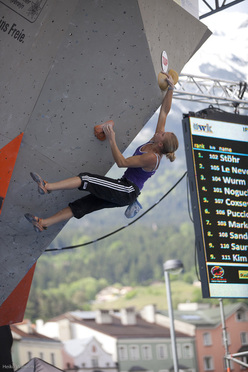 The fourth stage of the Bouldering World Cup 2012 in Innsbruck, Austria: