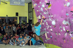 Una fase del Salewa RockShow 2012 di Verrès, Aosta