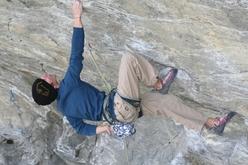 Stefano Ghisolfi climbing at Tetto di Sarre