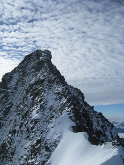 Mayerlrampe: Grossglockner with Grögerschneid and NW Ridge