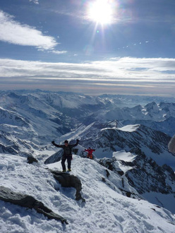 Grossglockner: Pallavicini, the fianl metres below the summit