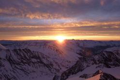 Grossglockner: alba al Rifugio Adlersruhe