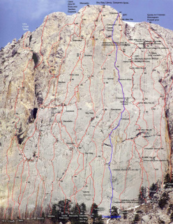 The routes up Mount Morcheka, Crimea