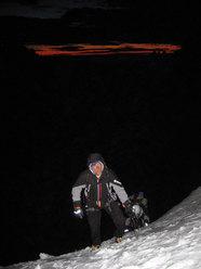 Ascending to Bloque Empontrado towrds Cerro Standhardt