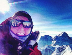 Emily Harrington on the summit of Everest on 25 May 2012 at 06:30.