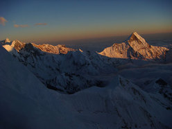 Looking to Machapuchare, Singhu Chuli and Tharpu Chuli from Bivvy 2