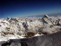 Machapuchare, Singhu Chuli, Tharpu Chuli dalla sommità della cresta Est
