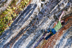 Adam Ondra climbing at Orgon, France