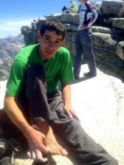 Alex Honnold in cima al Half Dome