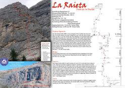 La Raieta (190m, V+ A0 (VI)
