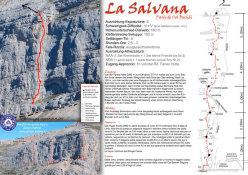 La Salvana (190m, VI+/V un pass. VII-)