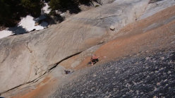 Hayden Kennedy climbing the Bachar - Yerian (5.11c R/X) at Tuolumne Meadows, Yosemite, USA
