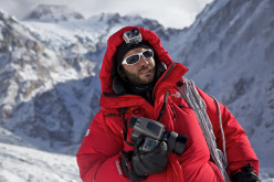 Matteo Zanga ai piedi del Nanga Parbat