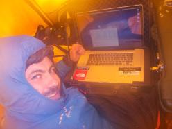 Matteo Zanga al lavoro