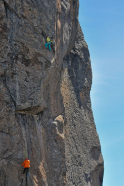 Caroline Ciavaldini making the first repeat of Alanga (8b, 120m)