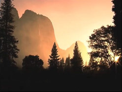 First light in Yosemite Valley, California, USA.