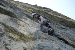 Alessio Roverato on pitch 3 of Cara in Val Gadena