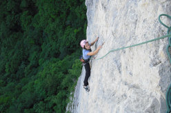 Angela Carraro on pitch 3 of Cara in Val Gadena
